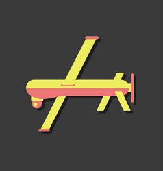 Flat icon design collection military drone vector