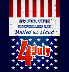 fourth of july poster vector image