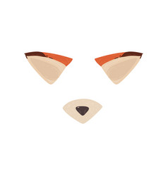 fox ears and nose mask for photo and video effect vector image