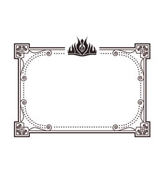 Frame for important documents and certificates vector