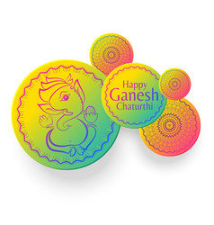 Ganesh chaturthi festival creative greeting vector