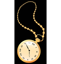 Golden pocket watches vector