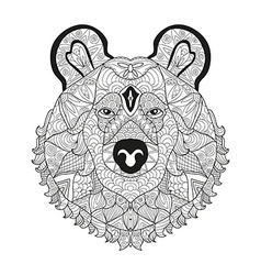 hand drawn decorative bear vector image