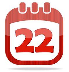 icon calendar Thanksgiving Day vector image