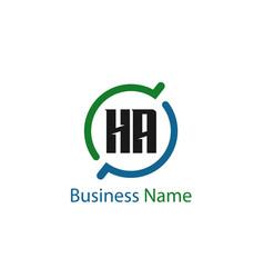 Initial letter ha logo template design vector