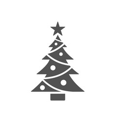 isolated christmas tree icon with star vector image