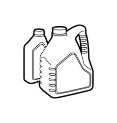 machine oil vector image