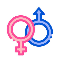male and female gender sign wedding icon vector image