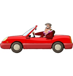 Man in a car vector