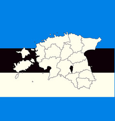 map and flag of estonia vector image