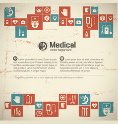 Medical help and care background vector