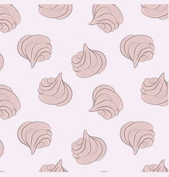 Meringues sweet pattern creamy delicious vector