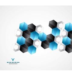 Modern hexagons geometrical design template vector image