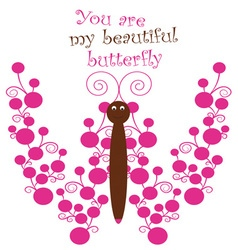 My Beautiful Butterfly vector