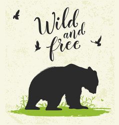 nature landscape with bear vector image