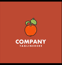 orange fruit logo design concept vector image