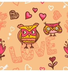 Owl lovers seamless background vector