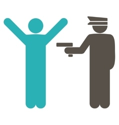 Police icon from Business Bicolor Set vector image