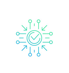 Positive impact icon line vector