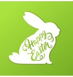 Rabbit and greeting inscription vector