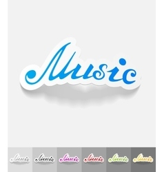 Realistic design element music inscription vector