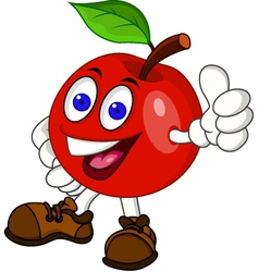 Red apple cartoon vector image vector image