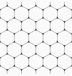 seamless pattern of hexagons with rounded corners vector image