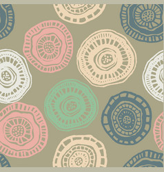 Seamless pattern with pastel aborigine vector