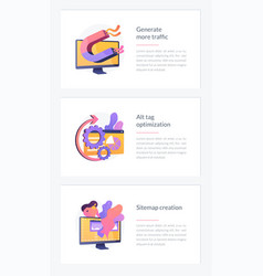 Seo results webpage template vector