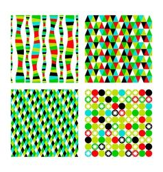Set pattern of four geometric shapes Colorful vector