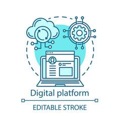 Software development digital platform concept icon vector