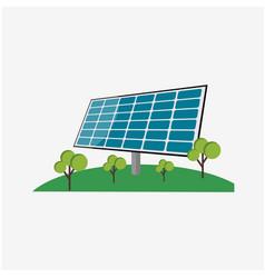 Solar panel energy template design vector