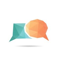 Speech bubble icon abstract vector
