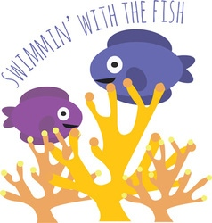 Swmmin Fish vector