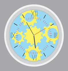 Time planning design gear vector image