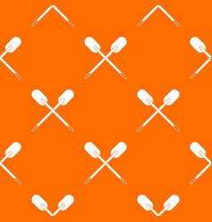 Two wooden crossed oars pattern seamless vector