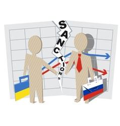 Ukraine sanctions against Russia vector image