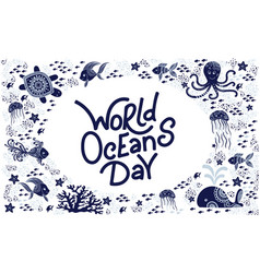 world ocean day vector image