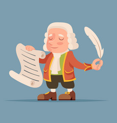 Writer scribe playwright noble medieval mascot vector