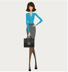 Young Businesswoman vector image