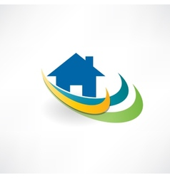 house for sale icon vector image vector image