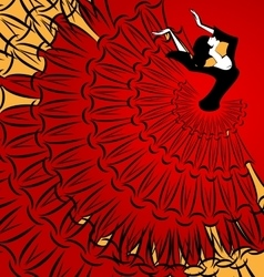 image of abstract dancer vector image vector image