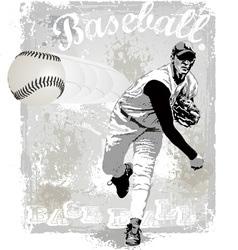 Pitcher strike vector image vector image