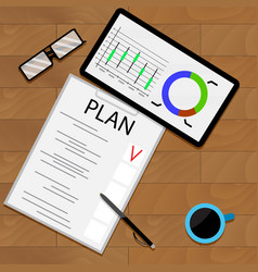 planning statistical forecast vector image vector image