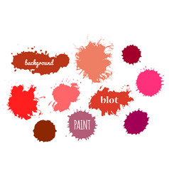 red paint splash set of brush strokes vector image
