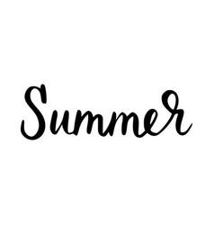 summer inscription brush vector image