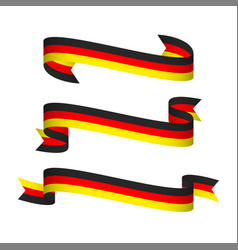 three modern ribbons with the german tricolor vector image