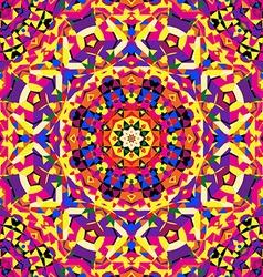bright circular kaleidoscope pattern vector image vector image