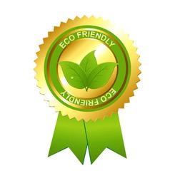 eco friendly emblem vector image vector image