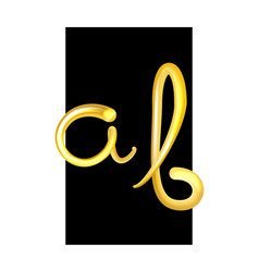 font set with letters a b alphabet made of fresh vector image